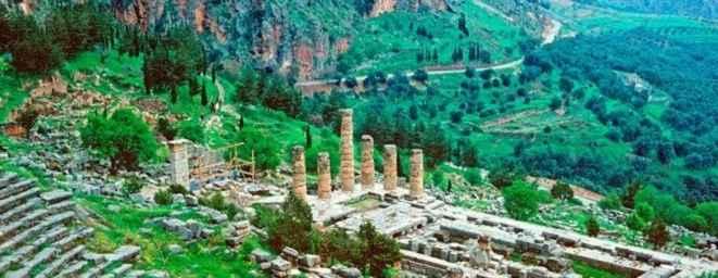 Delphi,Greece.Temple of Apollo.The Oracle of Delphi.